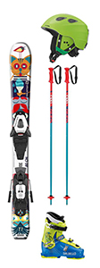 D 14: Set Kinderski bis 110 cm, inkl. Ski, Schuhe, Helm, Stöcke